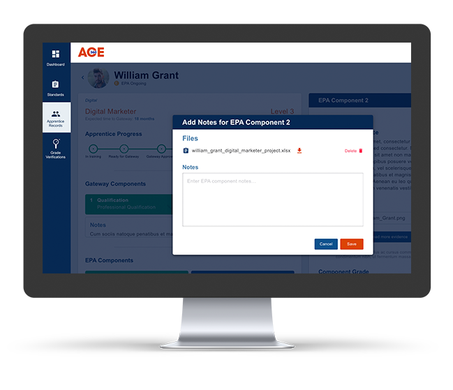 End Point Assessment Organisations Features